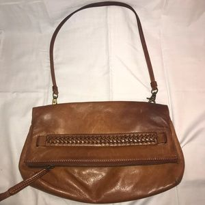 Frye leather purse tan